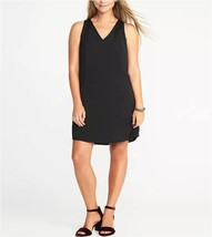 NEW Old Navy Womens Sleeveless Bow-Back Shift Dress, Black Dress - Large - $507,84 MXN