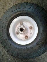 """Utility Wheels / Tires: 4.10/3.50-4 with 5/8"""" Bearings - 10"""" Pneumatic dirty image 5"""