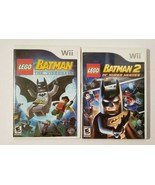 LEGO BATMAN 1 And 2 Nintendo Wii Video Game Lot CIB Complete - $17.77