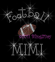 Football MIMI - C - Iron on Rhinestone Transfer Bling Hot Fix Sports - DIY - $8.99