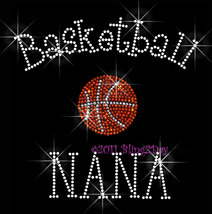 Basketball NANA - C - Iron on Rhinestone Transfer Bling Hot Fix Sports S... - $8.99