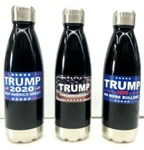 Trump Stainless Steel Personal Thermos 16 oz. Hot Cold Beverage Bottle New! - $19.95