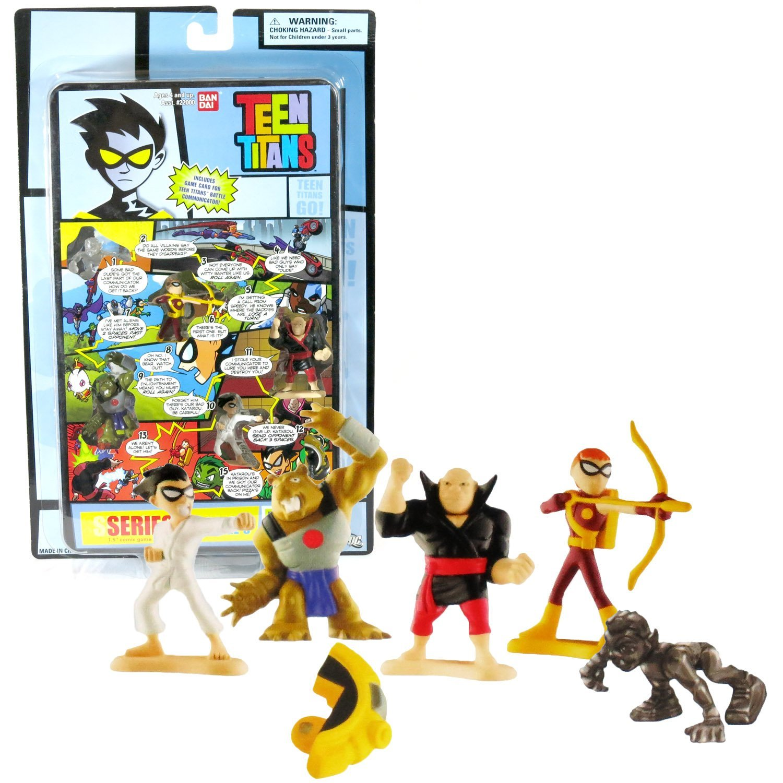 Bandai Year 2005 DC Comics Teen Titans Go! Series 1 Page 3 Mini 4 Pack 1-1/2 Inc