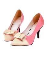 Thin Heel Pointed Chromatic Color Sexy Women Shoes  pink - $43.34