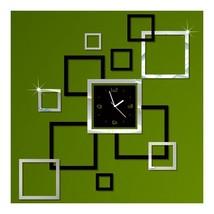 Wall Clock Stylish 3D Decoration Square Shape  ... - $21.59