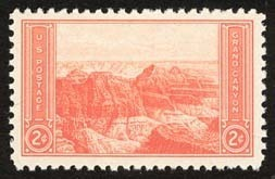 1934 2c Grand Canyon Scott 741 Mint F/VF NH