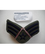 US AIR FORCE SR. AIRMAN LARGE SUBDUED INSIGNIA PATCHES LOT OF 12 (6PR.), NEW!! - $29.95