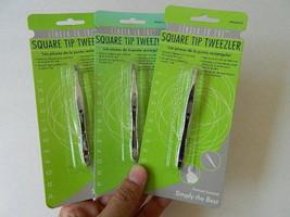 Square Tip Tweezler Tweezers, Finger To Toe, Professional, Lot Of 3 Cards - $10.95