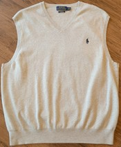 Polo Ralph Lauren Mens Size XL Gray Pima Cotton Knit Sweater Vest EUC - $23.74