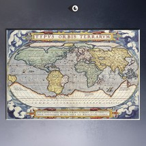 Map of the World earth Vintage Retro wall Art H... - $29.99