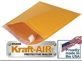 "#5 BUBBLE MAILERS KRAFT PADDED ENVELOPES 10.5"" X 15"" 100 Pieces Made In ... - $45.53"