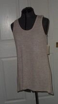 Bobbie Brooks Womans Knit Top Shirt Size L Beige Stretch Nwt  - $14.99
