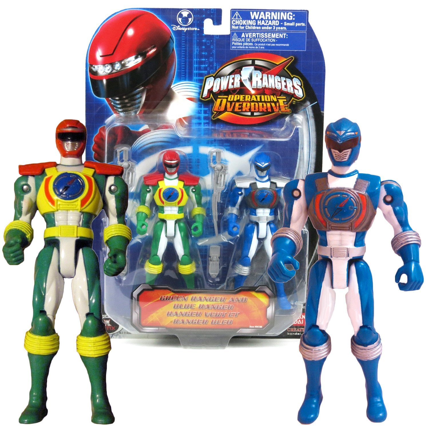 Bandai Year 2007 Power Rangers Operation Overdrive Series 2 Pack 6 Inch Tall Act