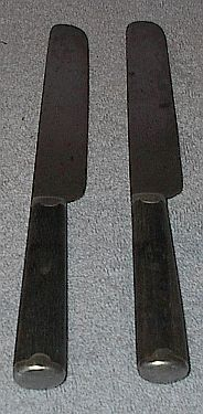 Two Wood Handle Hibbard and Spencer Flatware Knifes Civil War Era