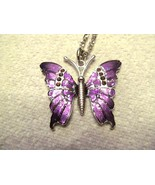 NECKLACE,Butterfly, Dark and light purple. A Symbol of CHANGE - $15.00
