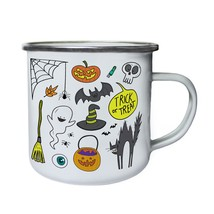 Halloween Collection  Retro,Tin, Enamel 10oz Mug q850e - $13.13