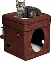 Cats Cube Condo Play Station Sleeping House Hide Away w/ Balls Portable ... - £41.16 GBP