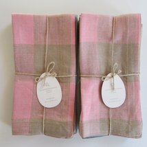 Pottery Barn EASTER GINGHAM NAPKIN~Mixed Set of... - $65.00