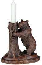 Candleholder Rustic Bear Honey Tree Hand Painted OK Casting - $219.00