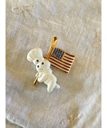 Collectible Pillsbury Doughboy Patriotic Golden Spoon American Flag Pin  - $14.99