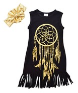 Unique Baby Girls 2 Piece Sleeveless Dreamcatcher Dress with Matching He... - $22.99
