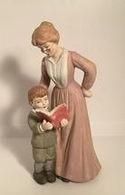 Vintage Ceramic Statue Grandmother/ Teacher and Child Reading GEI 1996 7... - $17.77