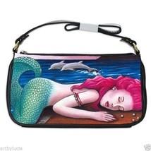 Shoulder Clutch Bag Purse from art painting Mermaid 12 dolphin L.Dumas - $487,52 MXN
