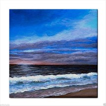 Tile Coaster from original painting art Sea View 139 - $17.99