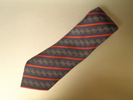 Hermes Tie Silk Horsebit Stripe Blue Red Neck Tie Necktie 7352 Pa - $93.38