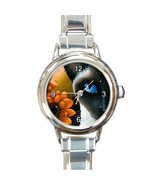 Round Italian Charm Metal Watch Cat 575 siamese... - $15.99 - $16.99