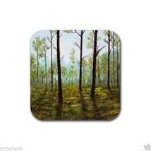 Rubber Coasters set of 4, from art painting Landscape 145 by L.Dumas - $13.99