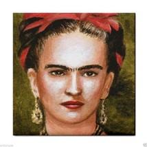 Ceramic Tile Coaster from art painting Frida Kahlo 3 - $17.99