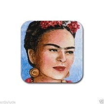 Rubber Coasters set of 4, from art painting Frida Kahlo 9 by L.Dumas - $13.99