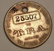Travelers Protective Assoc. Vintage Lost Key Fob. St. Louis TPA Token - $10.00