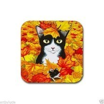Rubber Coasters set of 4, from art painting Cat... - $13.99