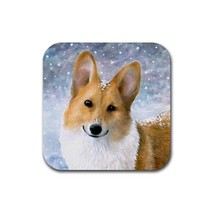 Rubber Coasters set of 4, Dog 126 Pembroke Welsh Corgi art painting by L... - $13.99
