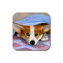Rubber Coasters set of 4, Dog 127 Pembroke Welsh Corgi art painting by L... - $13.99