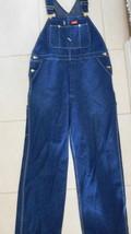 Overalls Coveralls DICKIES Blue Denim Farmer Mechanic Mens Sz 40X32 Preowned (D) - $35.09