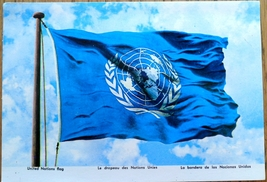 United Nations Flag Nations Unies NY Geneva Swi... - $4.00