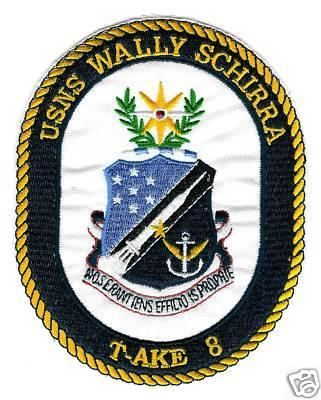 US Navy T-AKE 8 USNS Wally Schirra Patch