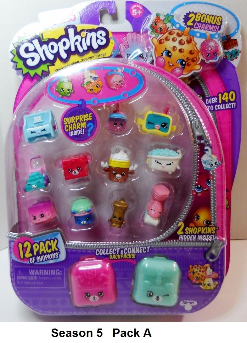 Shopkins Season 5 Charms Backpacks 12 pack
