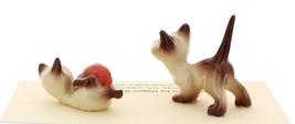 Hagen-Renaker Miniature Cat Figurine Siamese Kittens 2 Piece Set Chocolate Point image 2