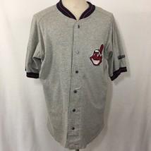 VTG Legends Cleveland Indians Jersey Chief Wahoo Gray Size XL MLB Baseba... - $38.76