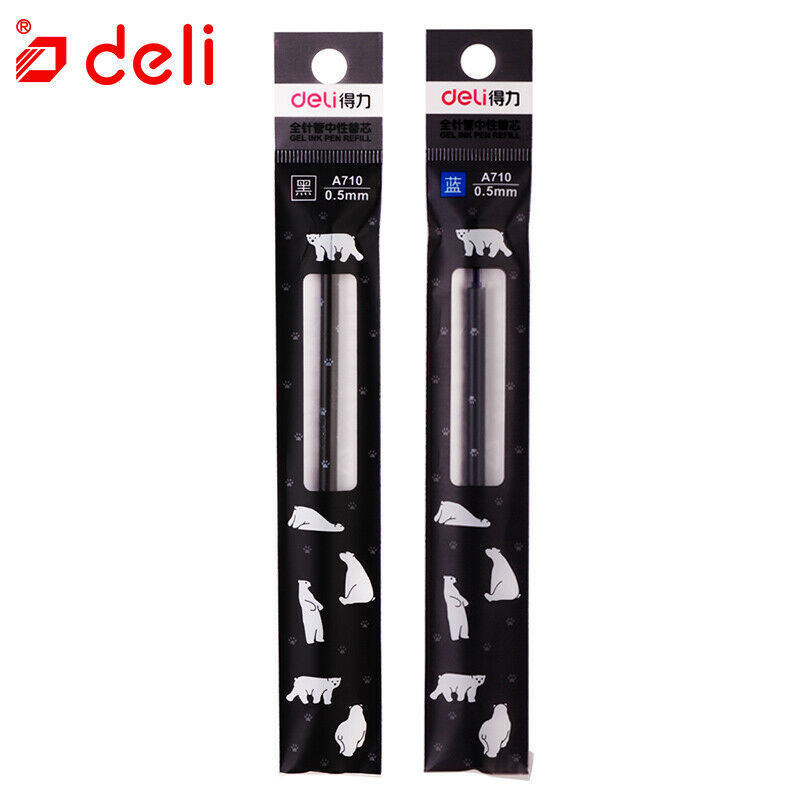 Deli® Pen 20PCS/Box Gel Ink Pen Refill Black Ink Replacement Refills Student
