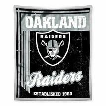 Las Vegas Raiders Old School Mink Sherpa Blanket Throw Super Soft New Nwt - $38.88