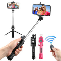 New Extendable Selfie Stick Tripod Remote Bluetooth Shutter Fit for Phon... - €12,39 EUR