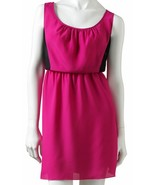 Speechless Juniors Fuschia Pink Black Lace Colorblock Skaters Dress M 5-... - $24.99