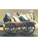 Williraye Studio WW2212 Santa Lying On Wagon With Cat 1997 RETIRED 1999 ... - $75.00