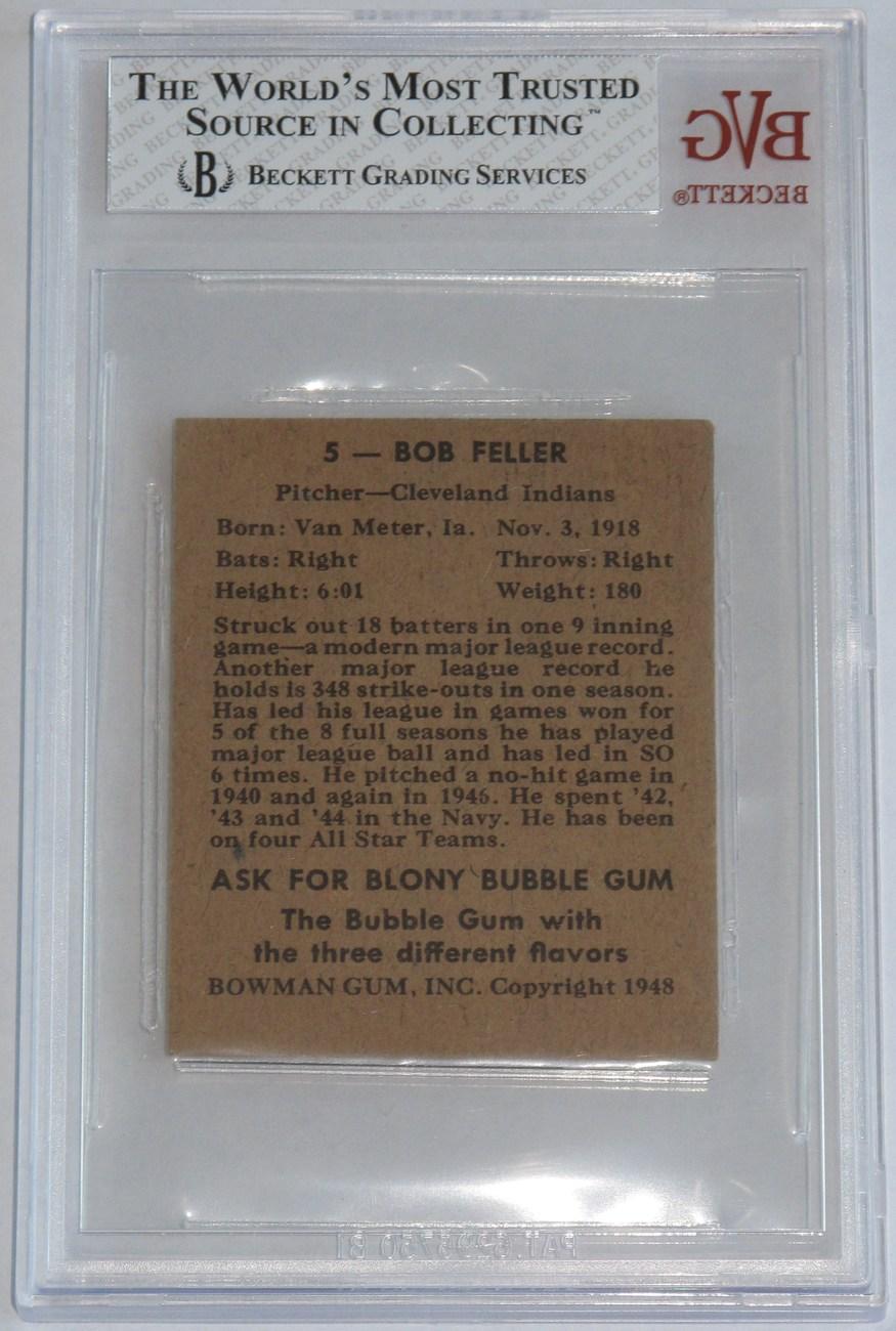 Bob Feller 1948 Bowman #5 BVG 7 NM