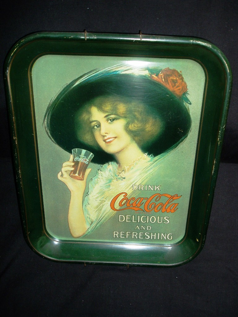 Retro 1970's Coca-Cola Collectible Wall Mounted Metal Tray!